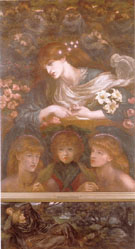 The Blessed Damozel c1871 - Dante Gabriel Rossetti reproduction oil painting