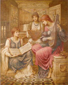 The Gentle Music of a Byegone Day 1890 - John Mellhuish Strudwick reproduction oil painting