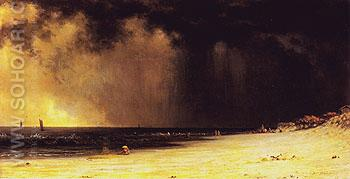 Thunderstorm at the Shore c1870 - Martin Johnson Heade reproduction oil painting