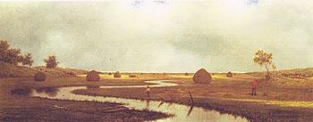 Marshfield Meadows c1878 - Martin Johnson Heade reproduction oil painting