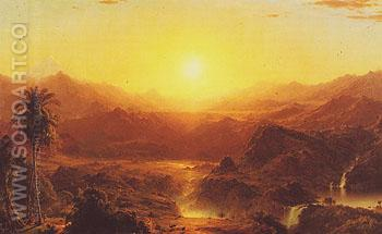 The Andes of Ecuador 1855 - Frederic E Church reproduction oil painting