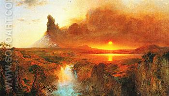 Cotopaxi 1862 - Frederic E Church reproduction oil painting