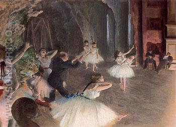 The Rehearsal on the Stage 1874 - Edgar Degas reproduction oil painting