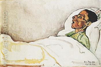 The Dying Woman Valentine Gode Darel 1915 - Ferdinand Hodler reproduction oil painting
