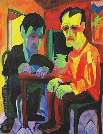 The Conversation 1925 - Herman Scherer reproduction oil painting