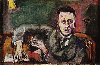 Portrait of Karl Kraus II 1925 - Oskar Kokoshka reproduction oil painting