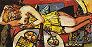 Woman Resting Frau Welt 1940 - Max Beckmann reproduction oil painting