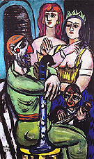 Clown with Women and Small Clown 1950 - Max Beckmann reproduction oil painting