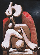 Woman in a Red Chair Armchair 1932 - Pablo Picasso reproduction oil painting