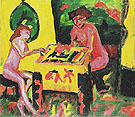 Sisters The Two Sisters 1910 - Erich Heckel