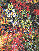 The Garden 1906 - Karl Schmidt-Rottluff reproduction oil painting