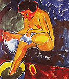 Girl at Her Toilet 1912 - Karl Schmidt-Rottluff reproduction oil painting