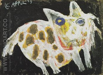 Dog 1949 - Karel Appel reproduction oil painting