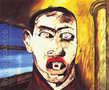 Name 1983 - Francesco Clemente reproduction oil painting