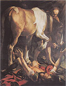 The Conversion of St. Paul 1601 - Caravaggio reproduction oil painting