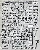 Untitled Plaid 1982 - Jean-Michel-Basquiat