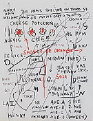 Untitled Cheese Popcorn 1982 - Jean-Michel-Basquiat