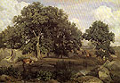 Forest of Fontainebleau c1846 - Jean-baptiste Corot reproduction oil painting