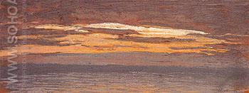 View of the Sea at Sunset 1862 - Claude Monet reproduction oil painting