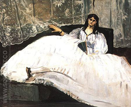 Portrait of Jeanne Duval 1862 - Edouard Manet reproduction oil painting
