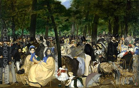 Music in the Tuileries Gardens c1860 - Edouard Manet reproduction oil painting