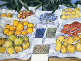 Fruit Displayed on a Stand c1881 - Gustave Caillebotte reproduction oil painting