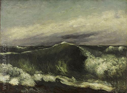 The Wave 1869 - Gustave Courbet reproduction oil painting