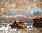 Small Seascape 1872 - Gustave Courbet reproduction oil painting