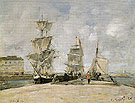 Harbour at Honfleur 1865 - Eugene Boudin