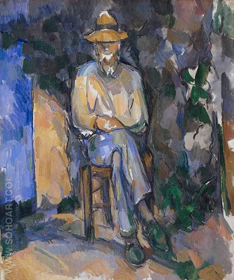 The Gardener c1906 - Paul Cezanne reproduction oil painting