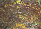 Path in the Rose Garden at Giverny c1920 - Claude Monet reproduction oil painting