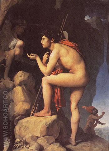 Oedipus and the Sphinx 1808 - Jean-Auguste-Dominique-Ingres reproduction oil painting