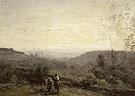 Horseman Setting Sun 1853 - Jean-baptiste Corot