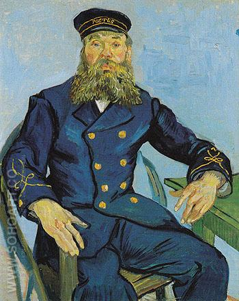 The Postman Joseph Roulin 1888 - Vincent van Gogh reproduction oil painting