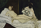 Olympia 1863 - Edouard Manet reproduction oil painting