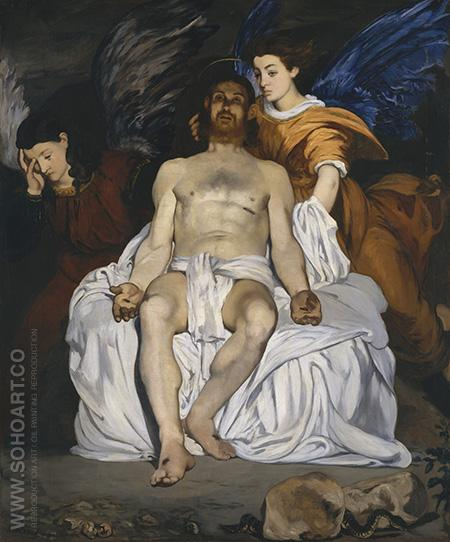 Dead Christ and Angels 1864 - Edouard Manet reproduction oil painting
