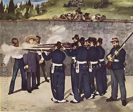 The Execution of the Emperor Maximilian 1867 - Edouard Manet reproduction oil painting