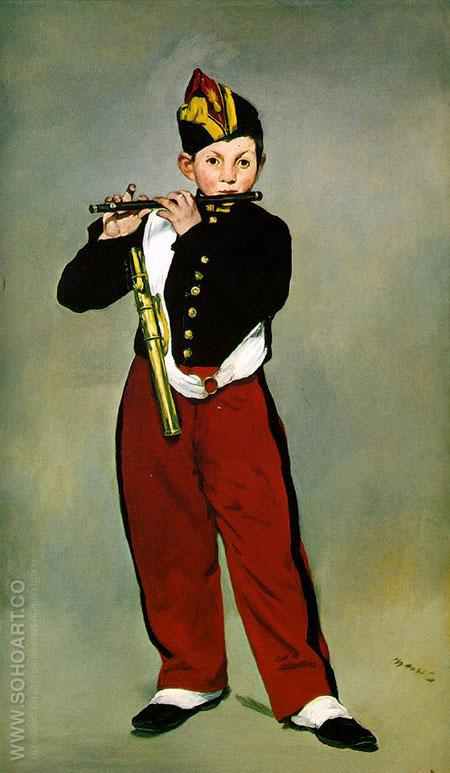 The Fifer 1866 - Edouard Manet reproduction oil painting
