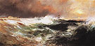 Stranded Ship on East Hampton Beach c1894 - Thomas Moran reproduction oil painting