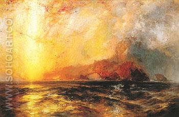 Fiercely the Red Sun Descending Burned His Way Along the Heavens c1875 - Thomas Moran reproduction oil painting
