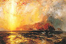 Fiercely the Red Sun Descending Burned His Way Along the Heavens c1875 - Thomas Moran
