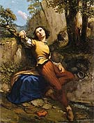 The Sculptor 1845 - Gustave Courbet reproduction oil painting