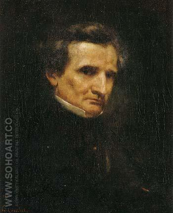Portrait of Hector Berlioz 1850 - Gustave Courbet reproduction oil painting