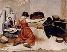 The Grain Sifters 1854 - Gustave Courbet reproduction oil painting