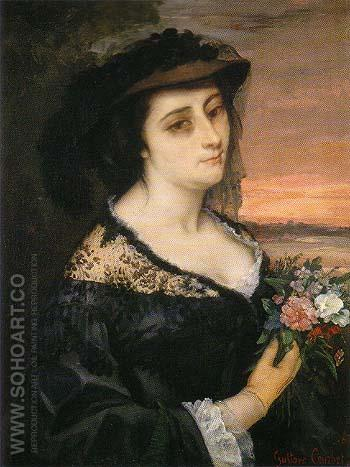 Portrait of Laure Borreau 1863 - Gustave Courbet reproduction oil painting