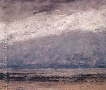 Marine 1865 - Gustave Courbet reproduction oil painting