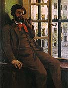 Self Portrait at Sainte Pelagie c1872 - Gustave Courbet reproduction oil painting
