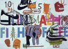 Aging Ali in Fight of Life - Jean-Michel-Basquiat