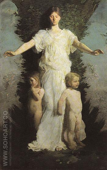 Caritas c1894 - Abbott Henderson Thayer reproduction oil painting