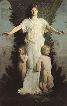 Caritas c1894 - Abbott Henderson Thayer reproduction oil painting